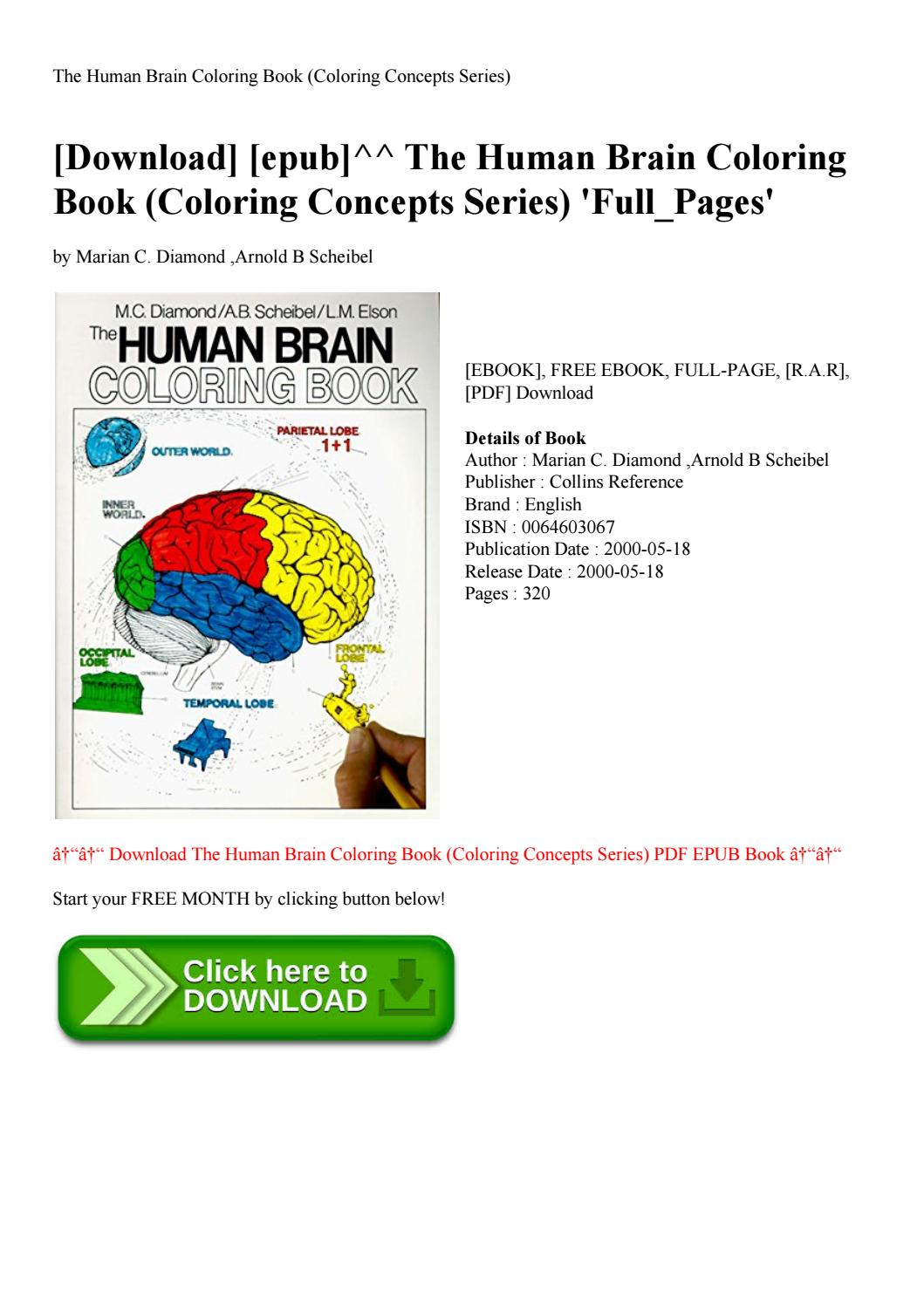 Download] [epub]^^ The Human Brain Coloring Book (coloring