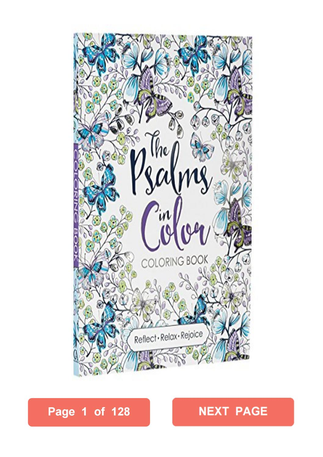 The Psalms In Color  Inspirational Adult Coloring Book Christian
