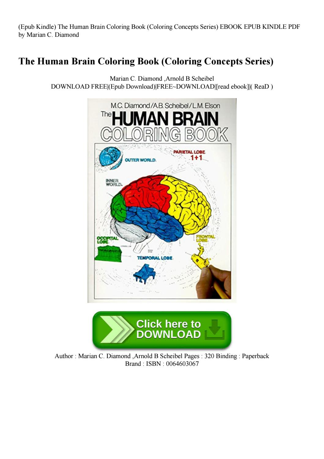 Epub Kindle) The Human Brain Coloring Book (coloring Concepts