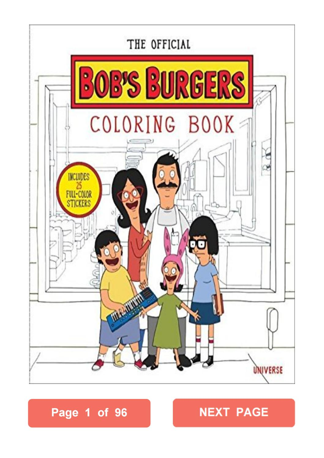 The Official Bob's Burgers Coloring Book Loren Bouchard Pdf By