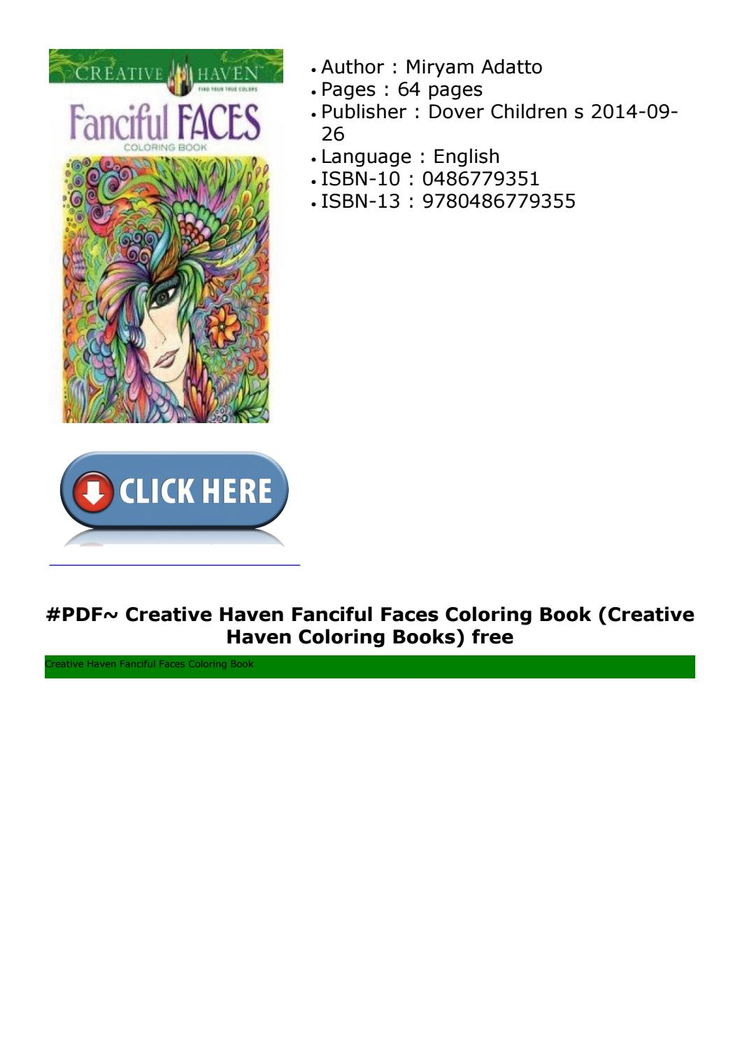 Creative Haven Fanciful Faces Coloring Book (creative Haven