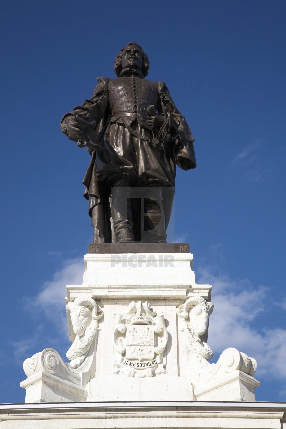 Samuel De Champlain Monument, Quebec City, Quebec, Canada
