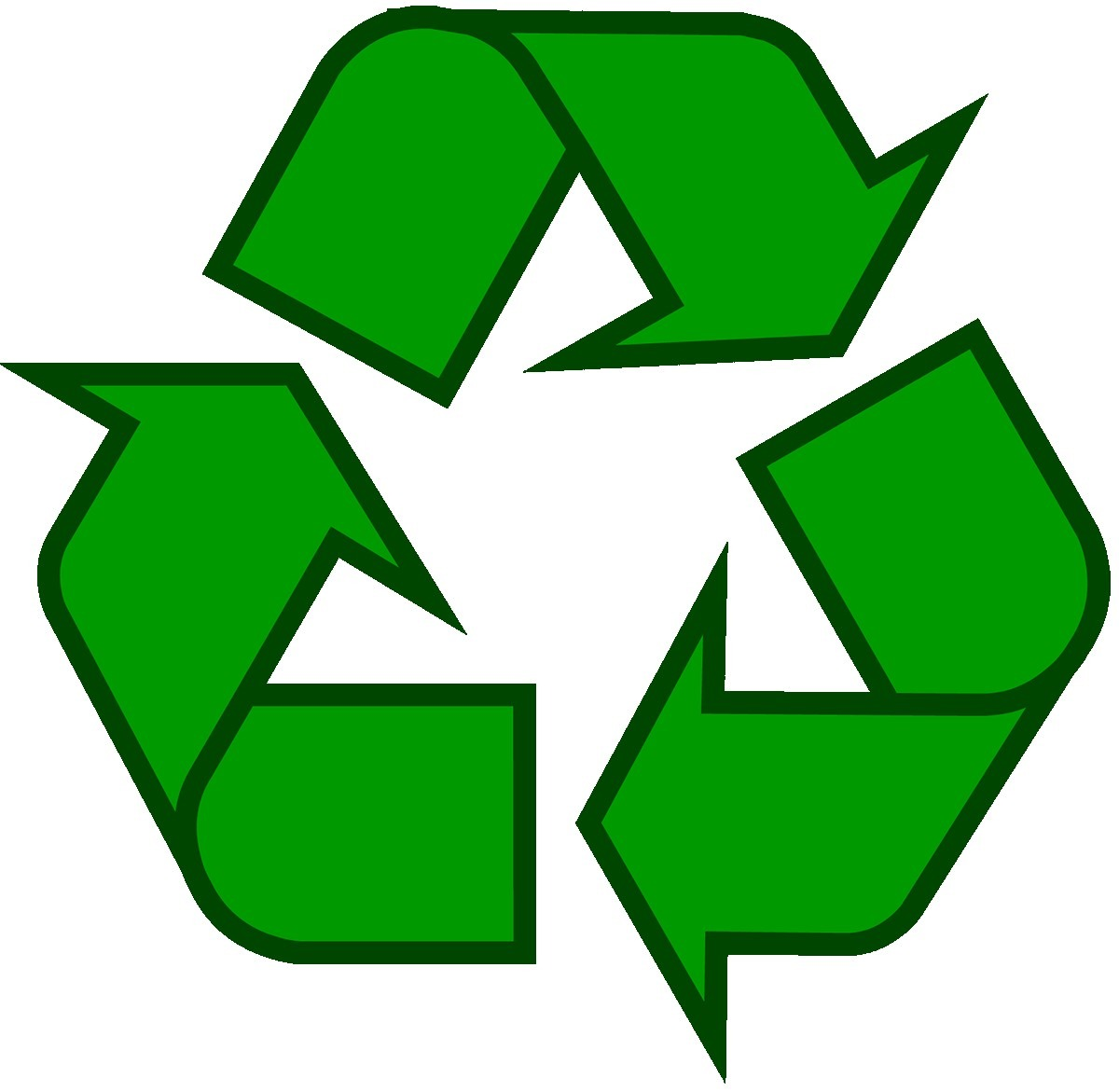 Recycling Symbol Icon Outline Solid Dark Green For Printable