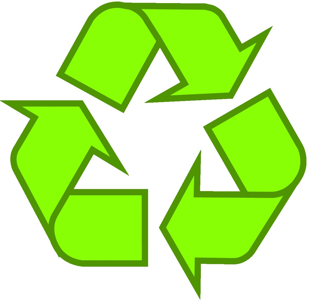 Recycling Symbol Icon Outline Solid Light Green For Printable