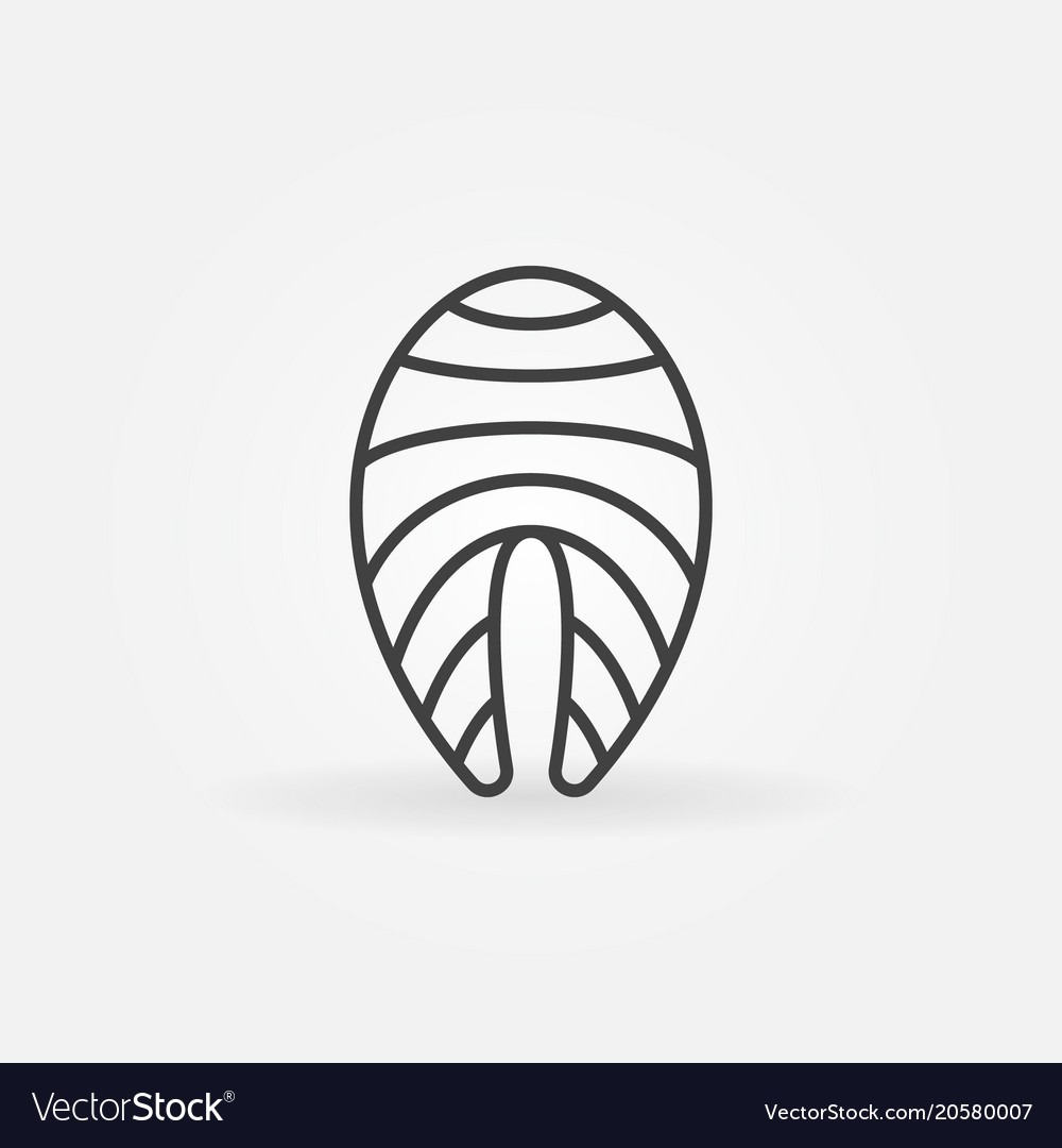 Red Fish Outline Icon