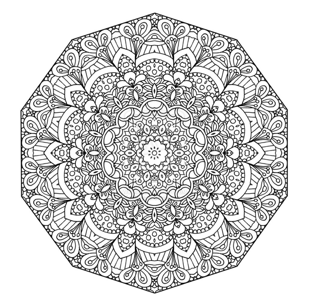 Coloring Books For Grown Ups – With Flower Mandala Book Also Buy