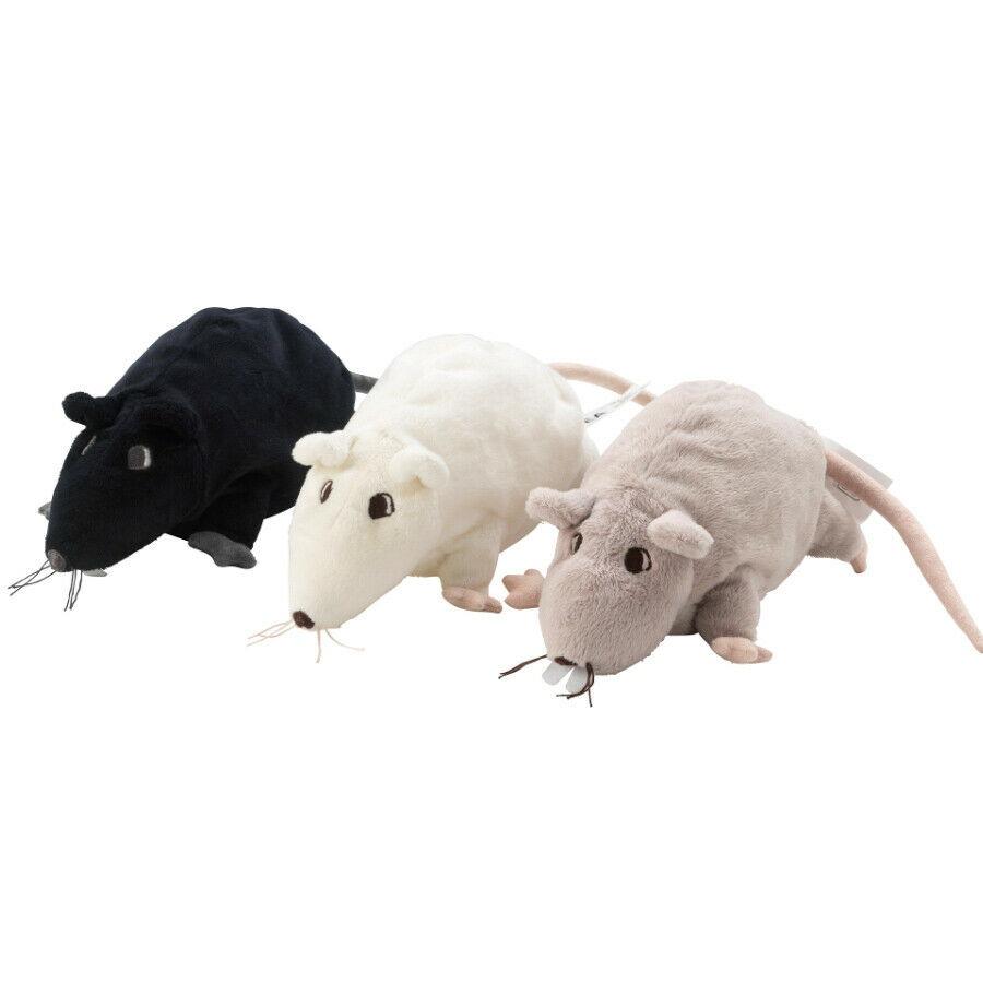 Ikea 3 Rats Gosig Ratta, Soft Stuffed Animal Set, Plush Rat Toy