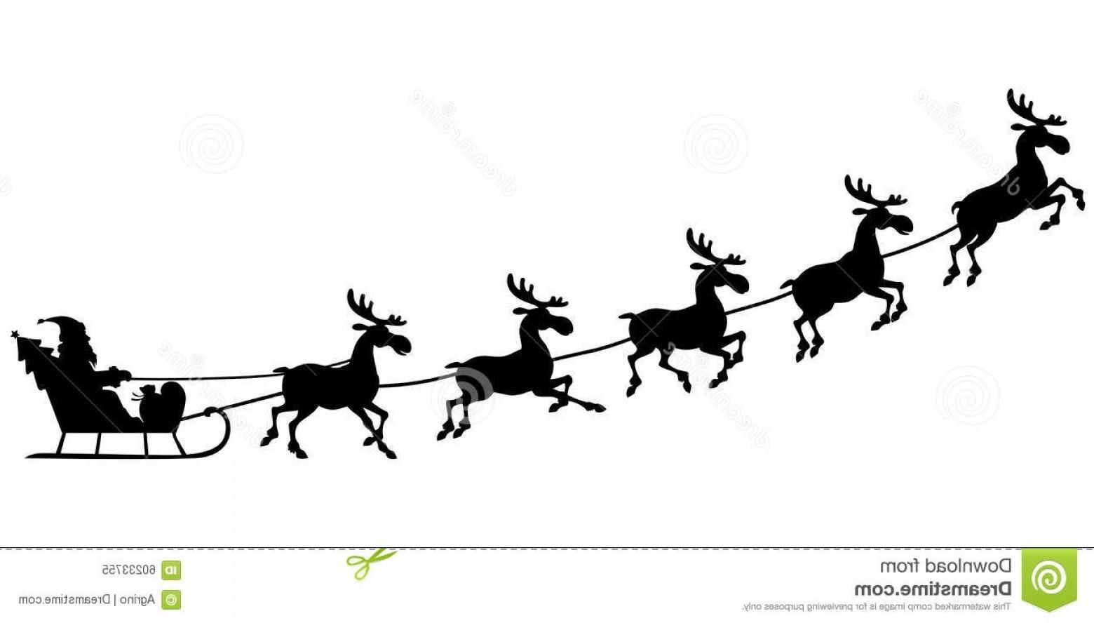 Santa Claus Sleigh Silhouette Free Vector Silhouette Santa Riding