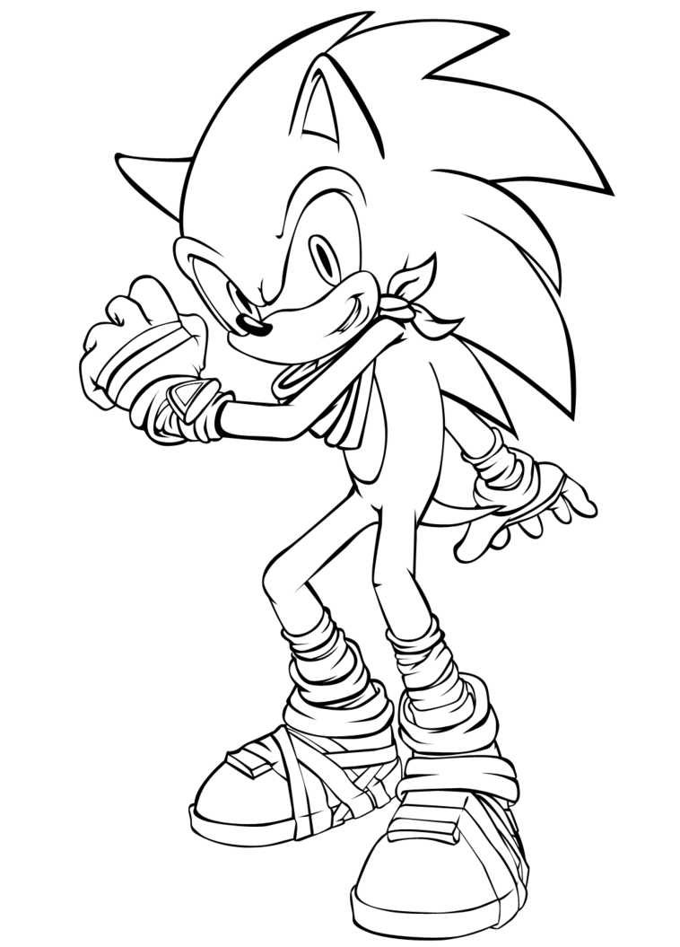 Sonic Coloring Pages Boom Channel Sonic By Celina8 On Deviantart