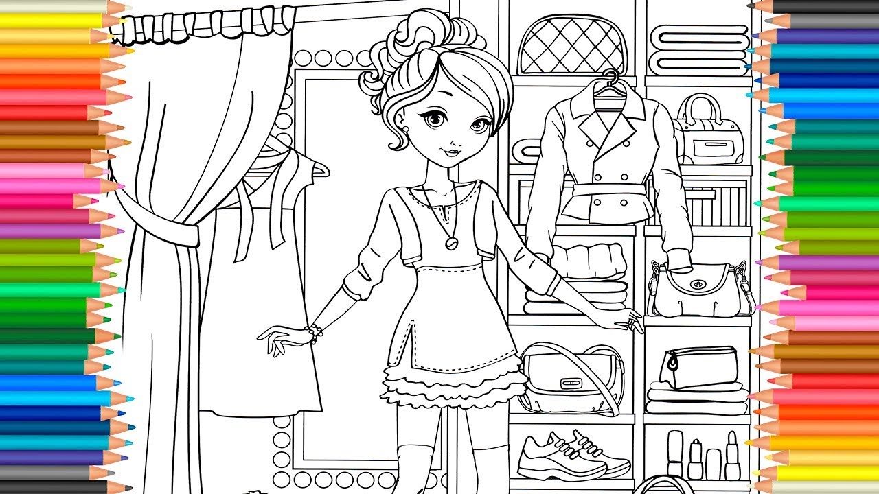 Coloring Page ~ Coloring Page Maxresdefault Look Fashion Book