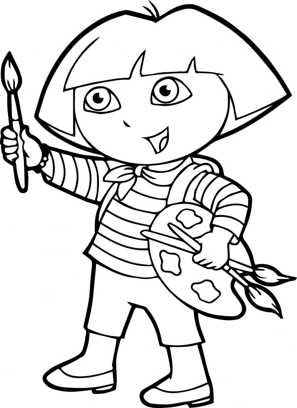 Coloring Page ~ Splendi Painting Coloring Pages Page Dora Splendi