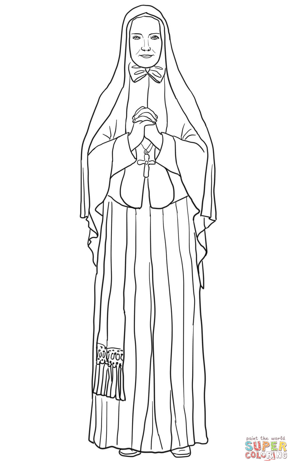St  Frances Xavier Cabrini Coloring Page