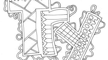Word Coloring Pages Printable