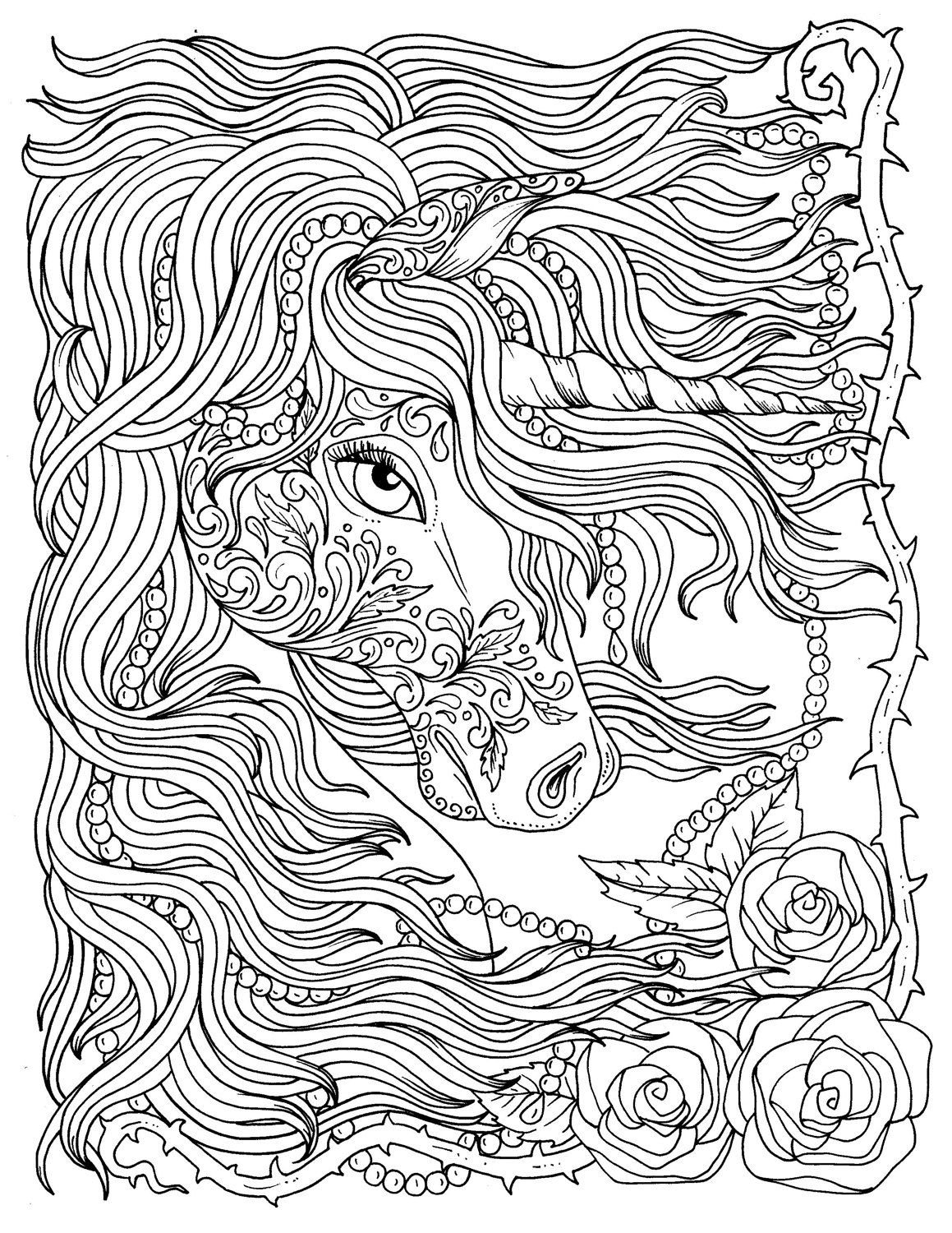 Coloring Page ~ Unicornoloring Page For Adults Beautiful Difficult
