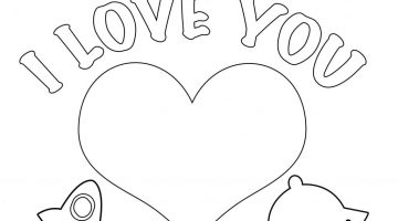 Valentines Day Coloring Cards