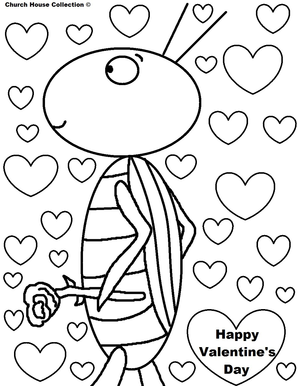 Coloring Page ~ Valentines Coloring Cards St Day Card Page