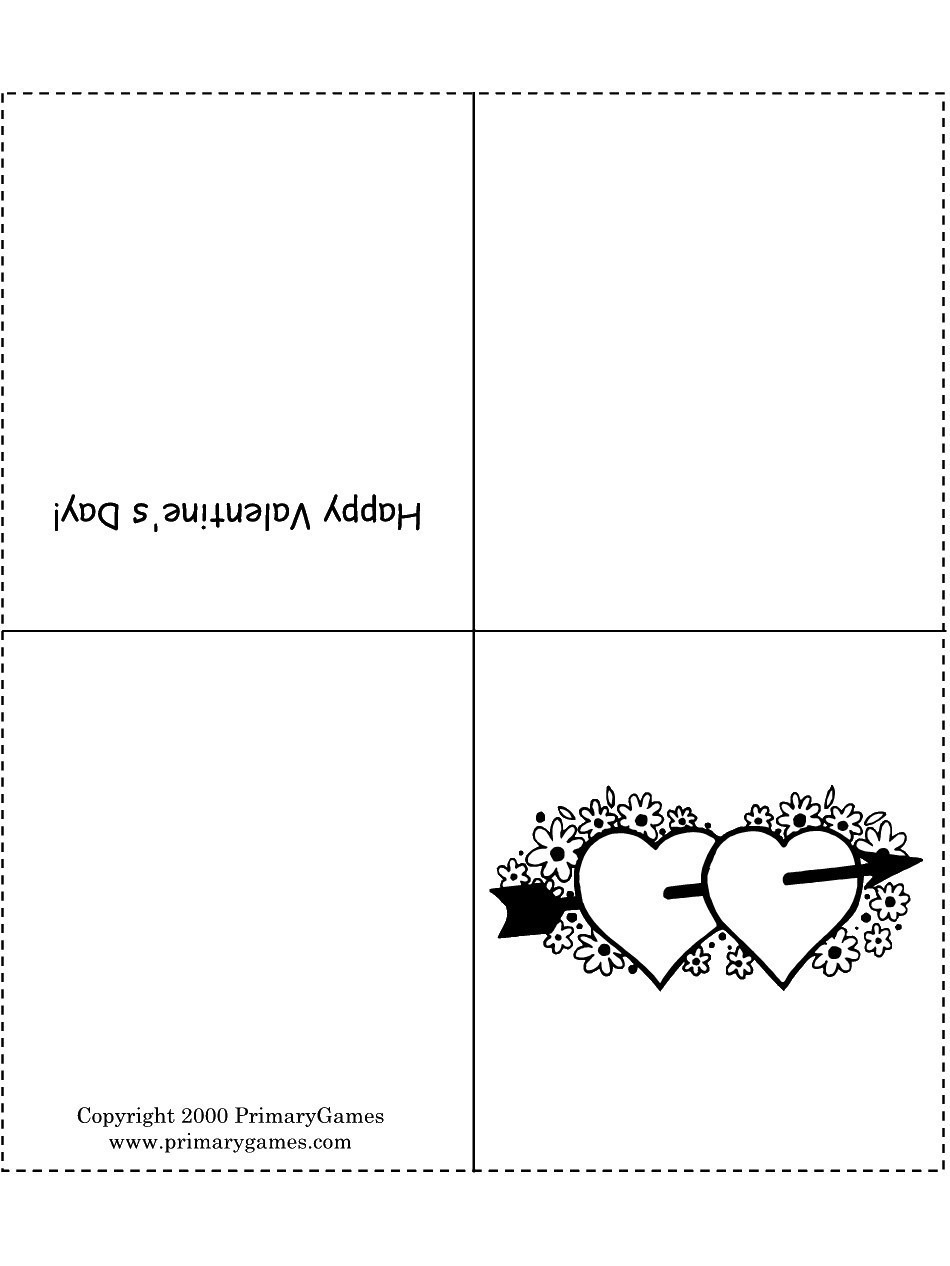 Coloring Page ~ Valentines Coloring Cards Day Current Catalog Page