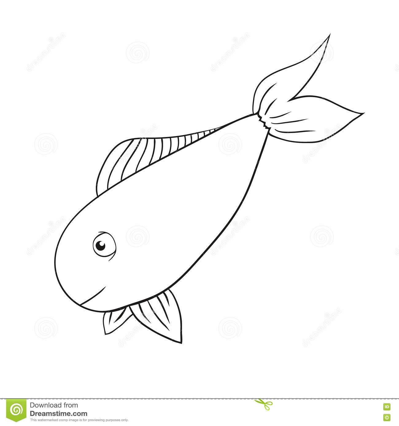 Vector Hand Drawn Fish Stock Vector  Illustration Of Drawn