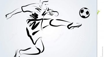 Sketch Of A Football Player