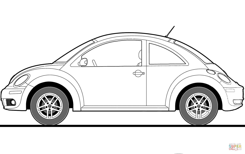 Volkswagen Beetle 2009 Coloring Page