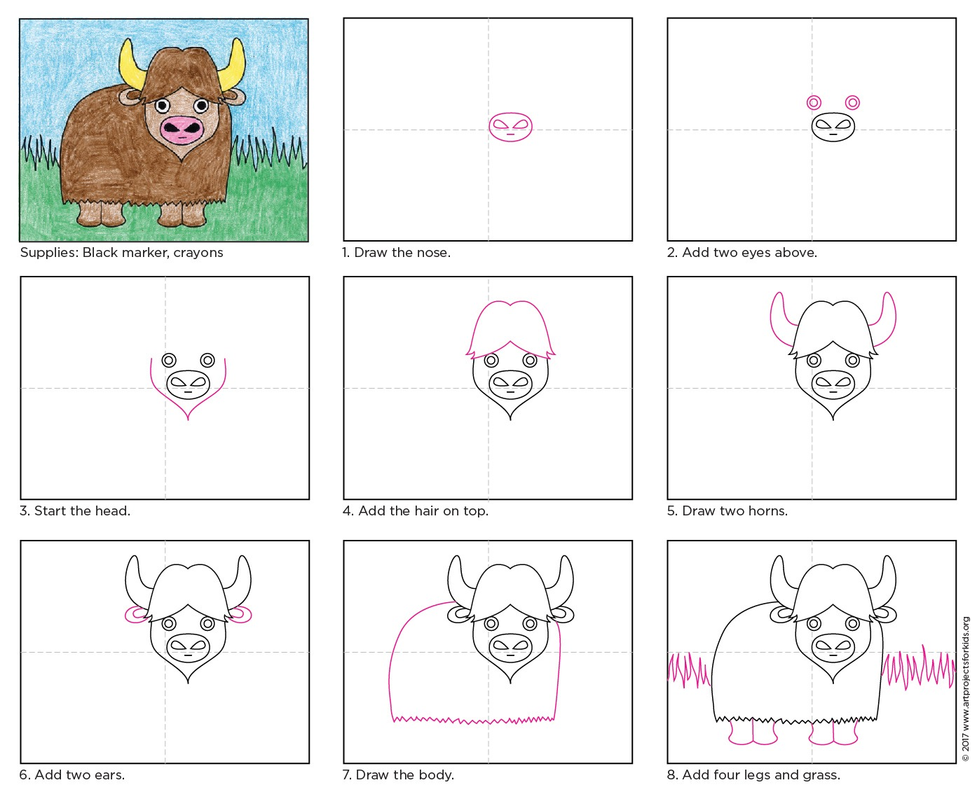 Draw A Water Buffalo · Art Projects For Kids