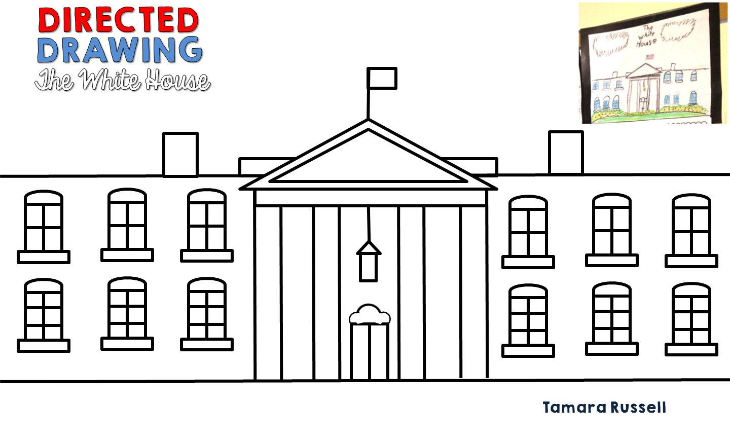 White House Drawing For Kids And Simple White House Drawing White