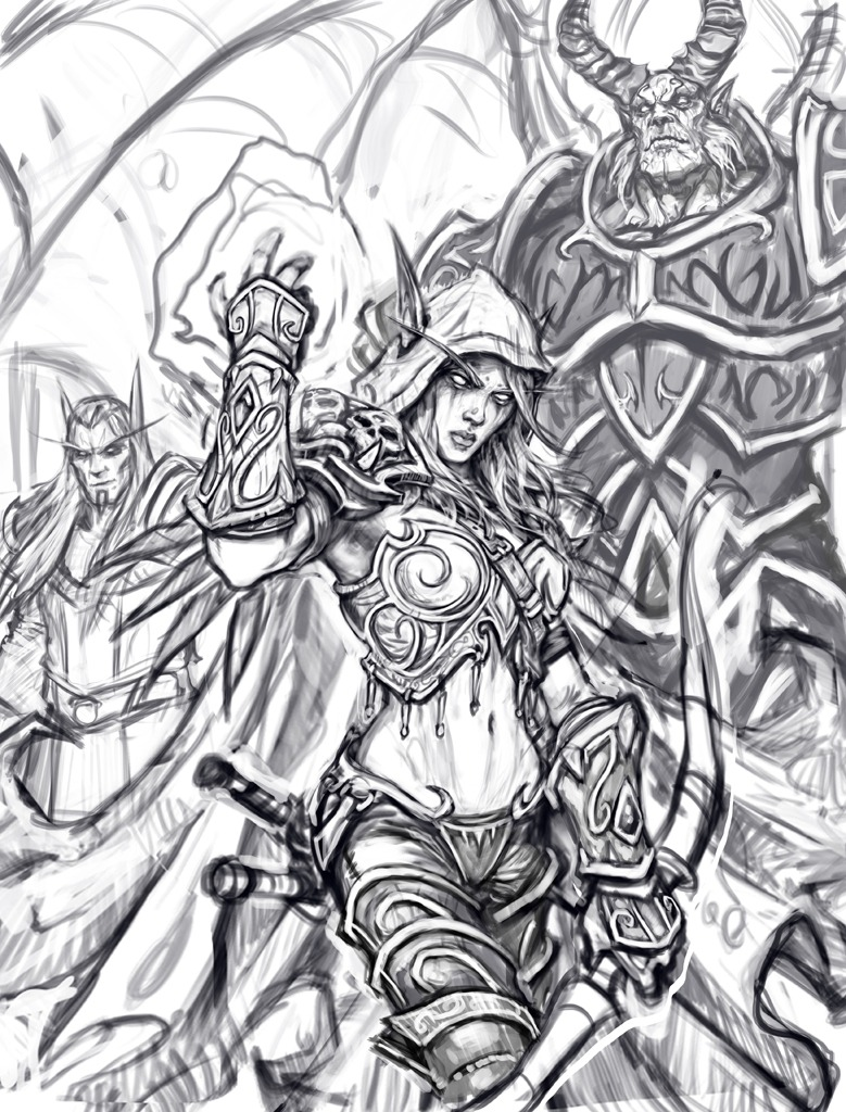 World Of Warcraft Coloring Book