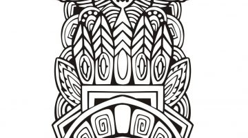 Mayan Patterns To Colour
