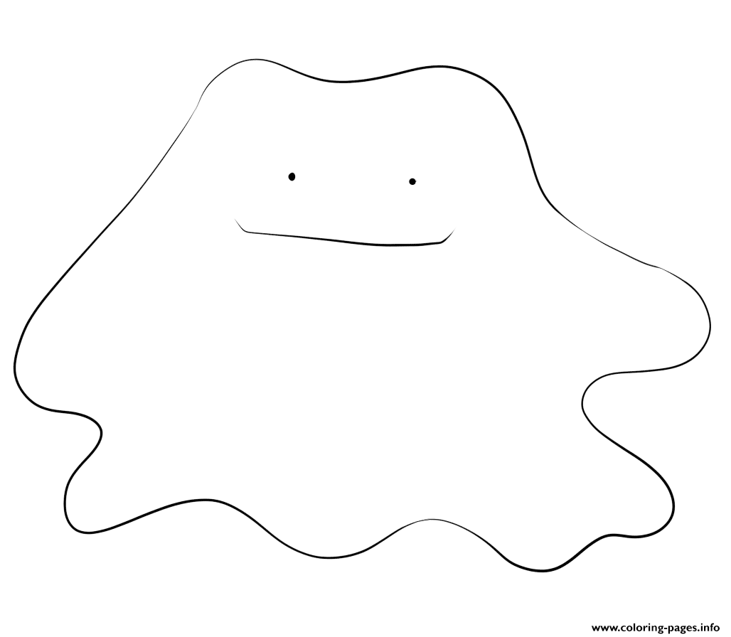 132 Ditto Pokemon Coloring Pages Printable