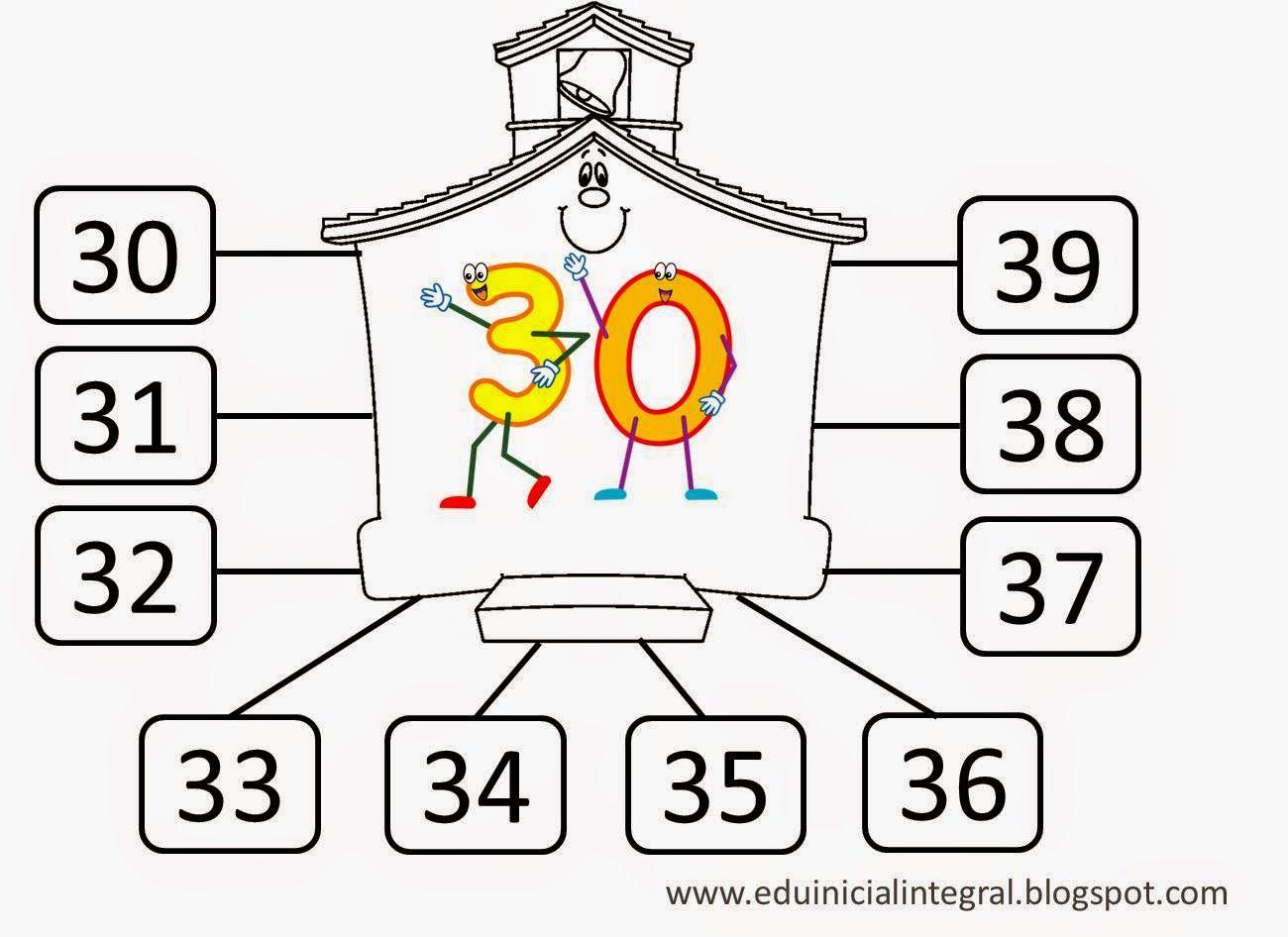 Numeros Del 20 Al 30 Para Colorear E Imprimir