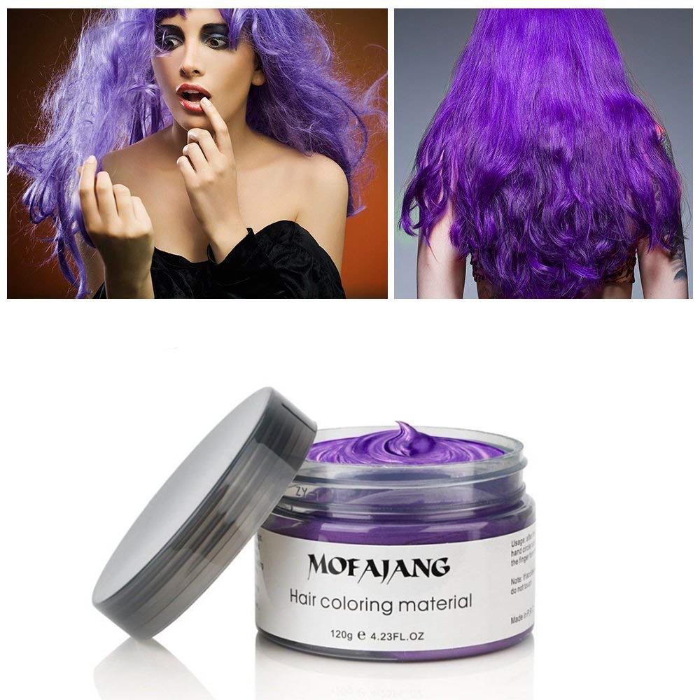 Mofajang Hair Wax Temporary Hair Coloring Styling Cream Mud Dye