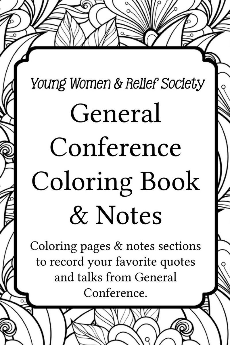 General Conference Coloring And Notes Book