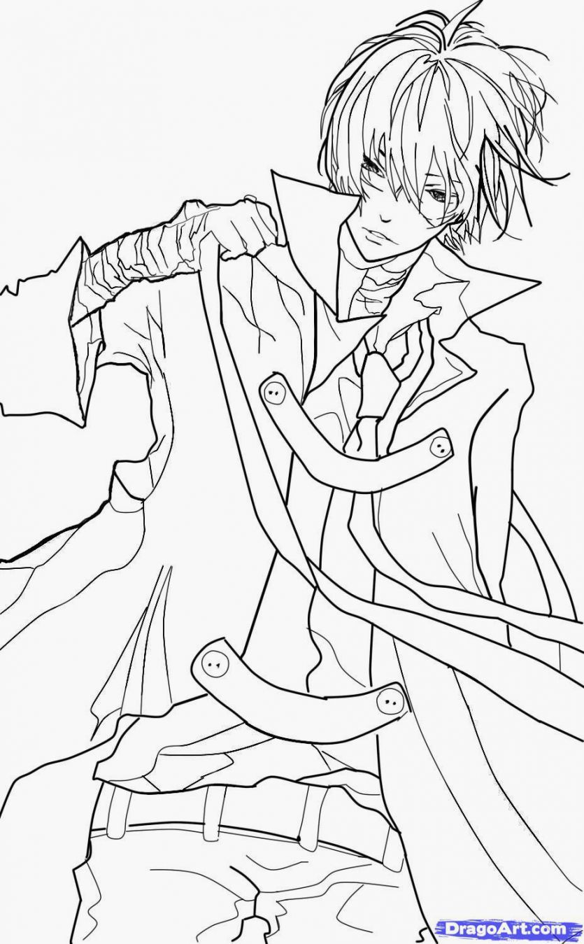Anime Boys Coloring Pages