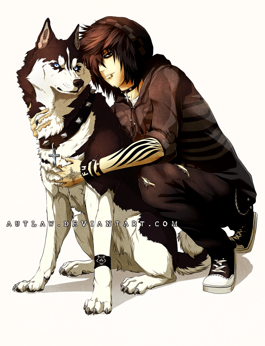 A Guy And His Dog By Autlaw Deviantart Com On @deviantart
