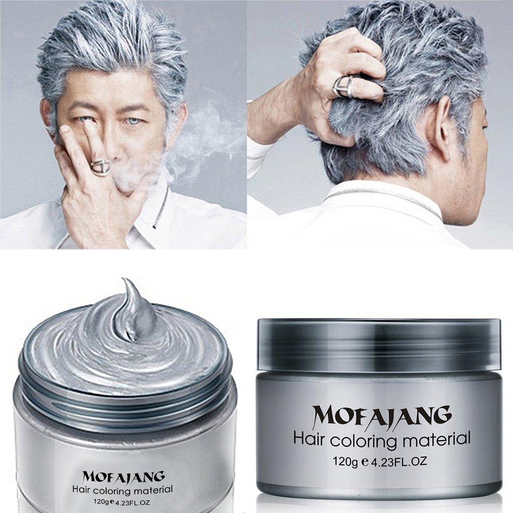 Amazon Com  Mofajang Hair Color Wax,instant Silver Grey Hair Wax