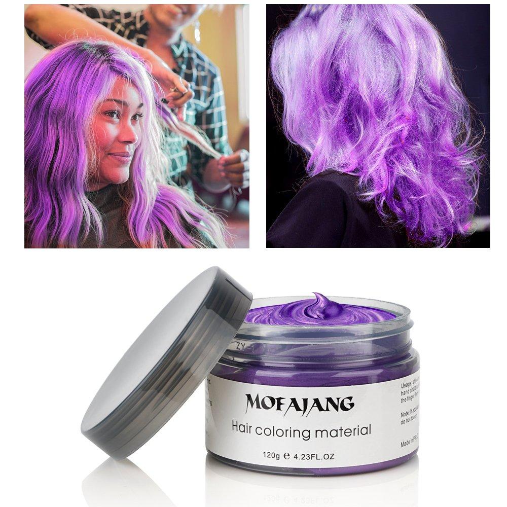 Amazon Com  Mofajang Hair Color Wax, Instant Hair Wax, Temporary