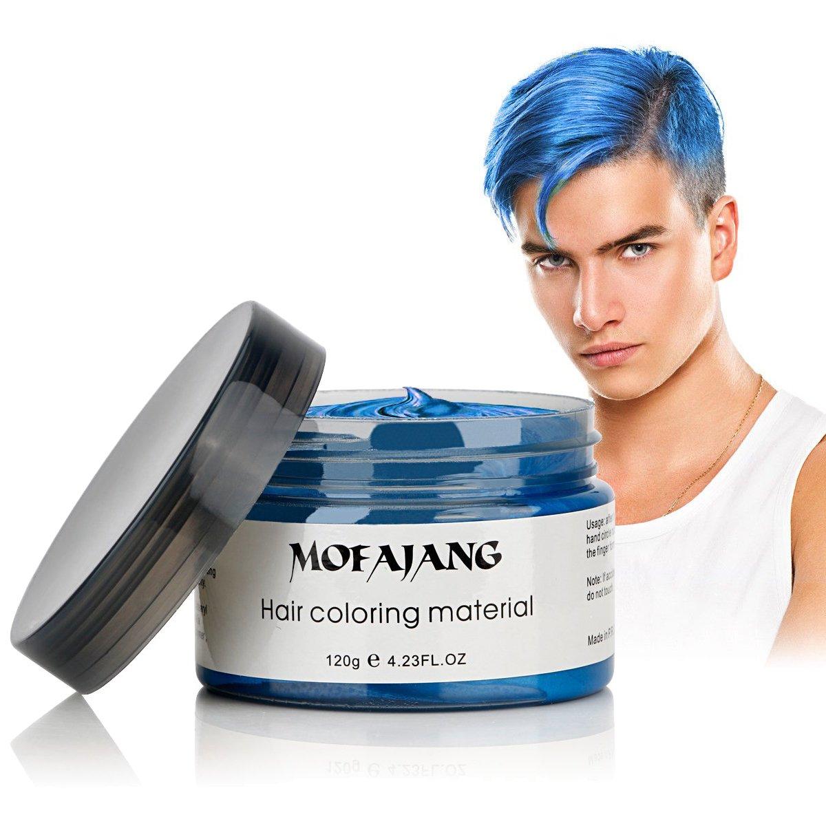 Amazon Com  Mofajang Hair Coloring Wax, Blue Temporary Hairstyle