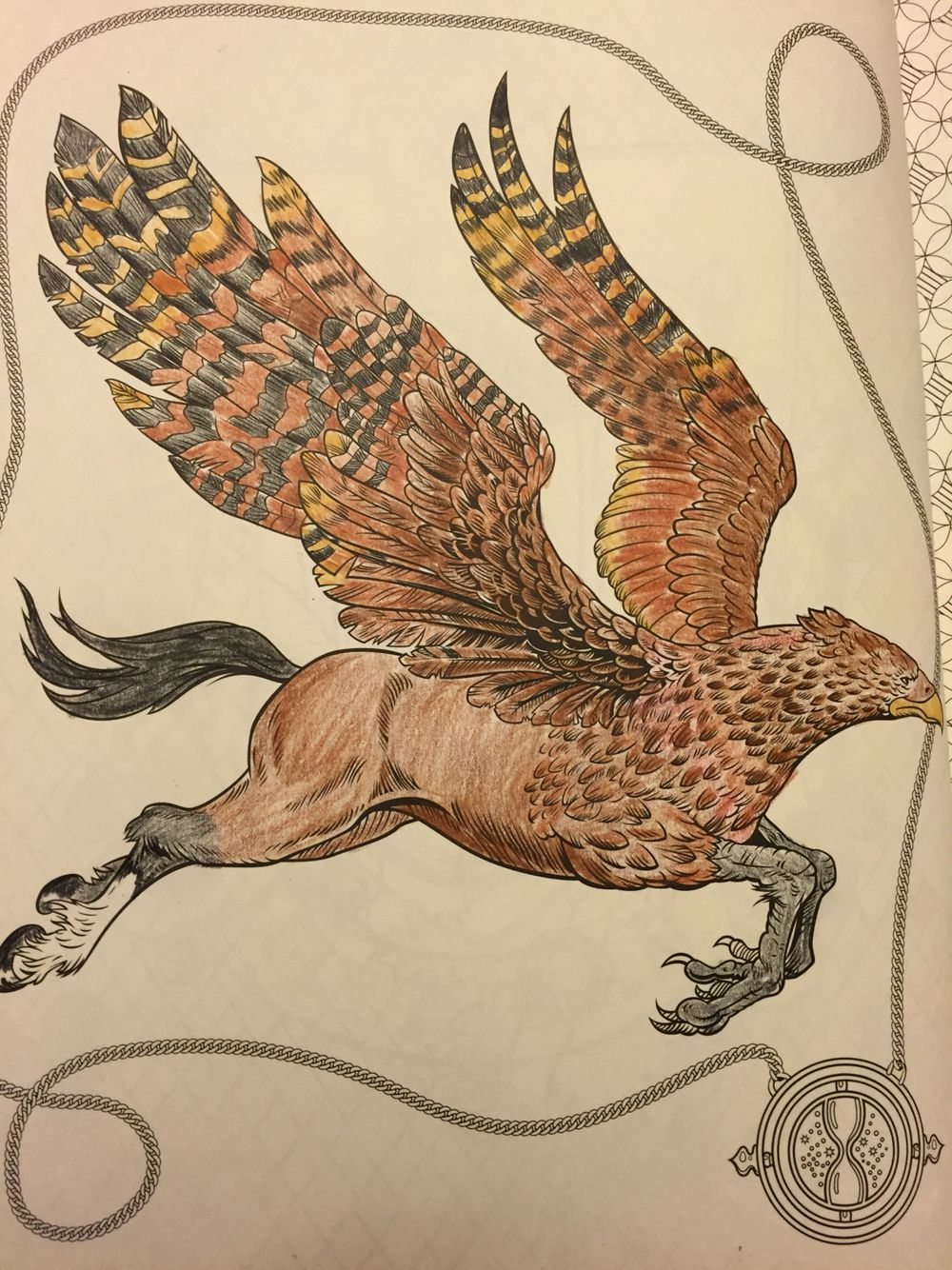 I Colored Buckbeak From The Harry Potter Coloring Book And I Had