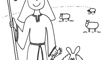 Coloring Pages Sheep And The Shepherd