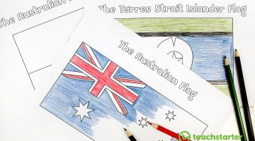 Australian Aboriginal Flag Colouring In