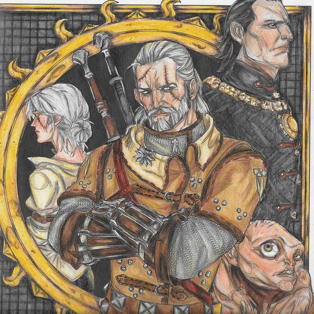Shani Of Witcher Coloring Book   Witchercolouringbook