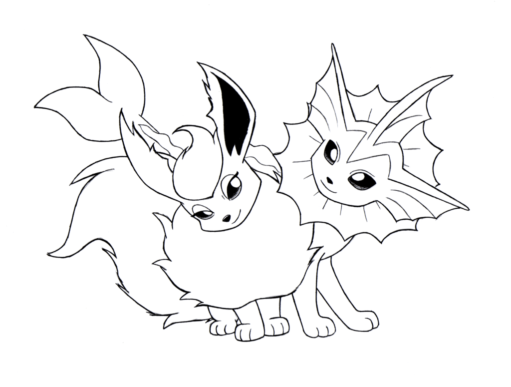 Pokemon Coloring Pages Eeveelutions