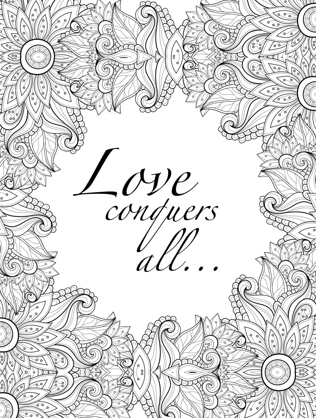 Coloring Page ~ Best Of Printable Adult Coloring Pages Quotes