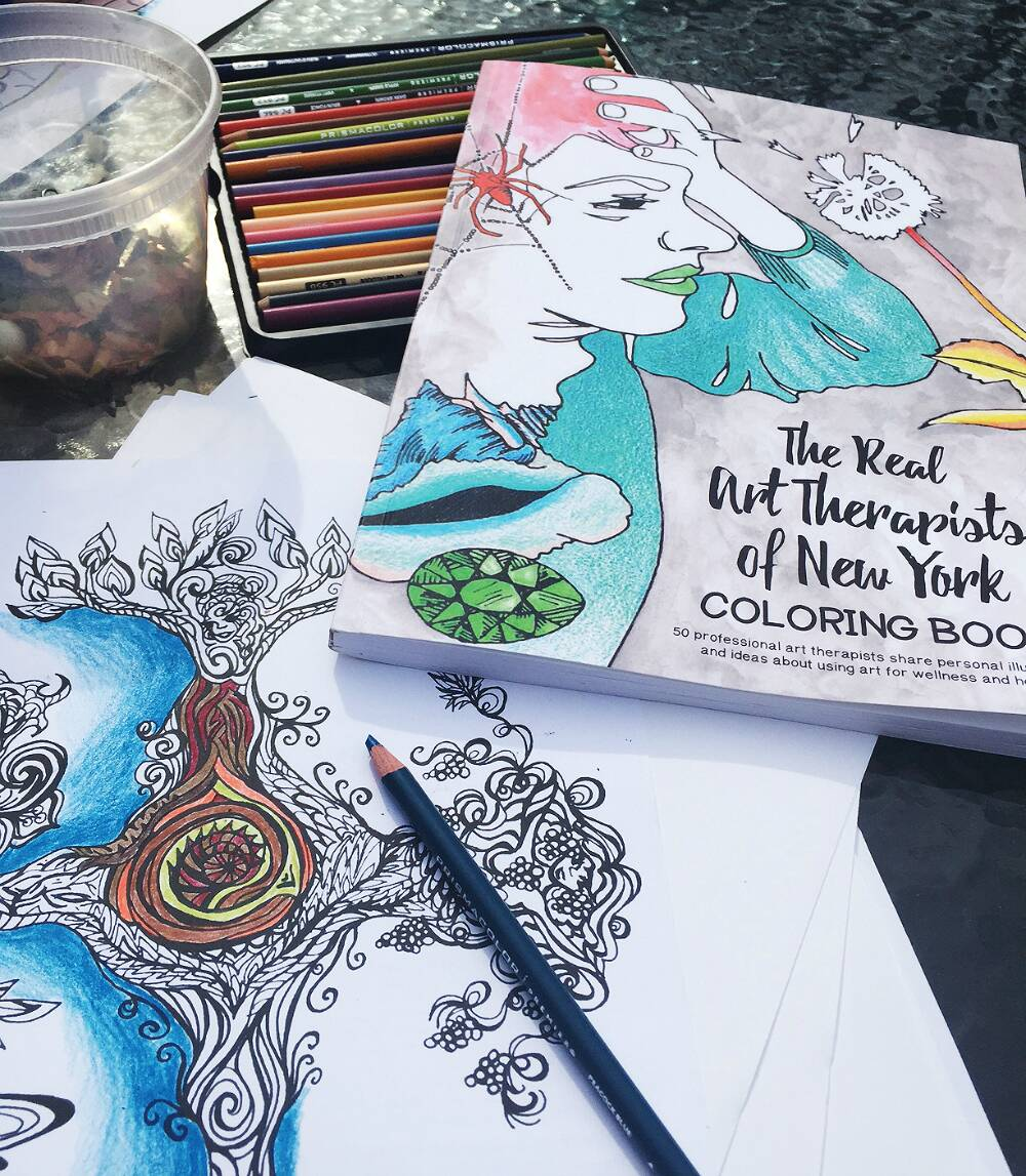Adult Coloring Books, Art Therapy, And Coloring Bars
