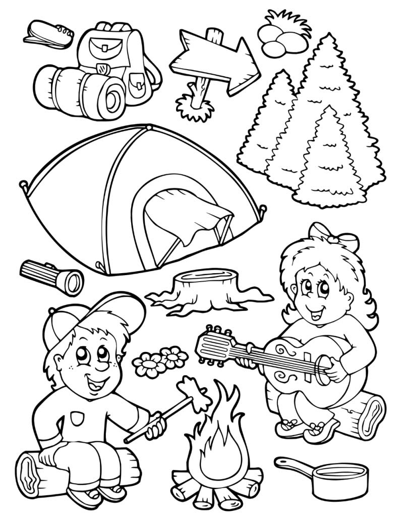 Camping Pictures To Color