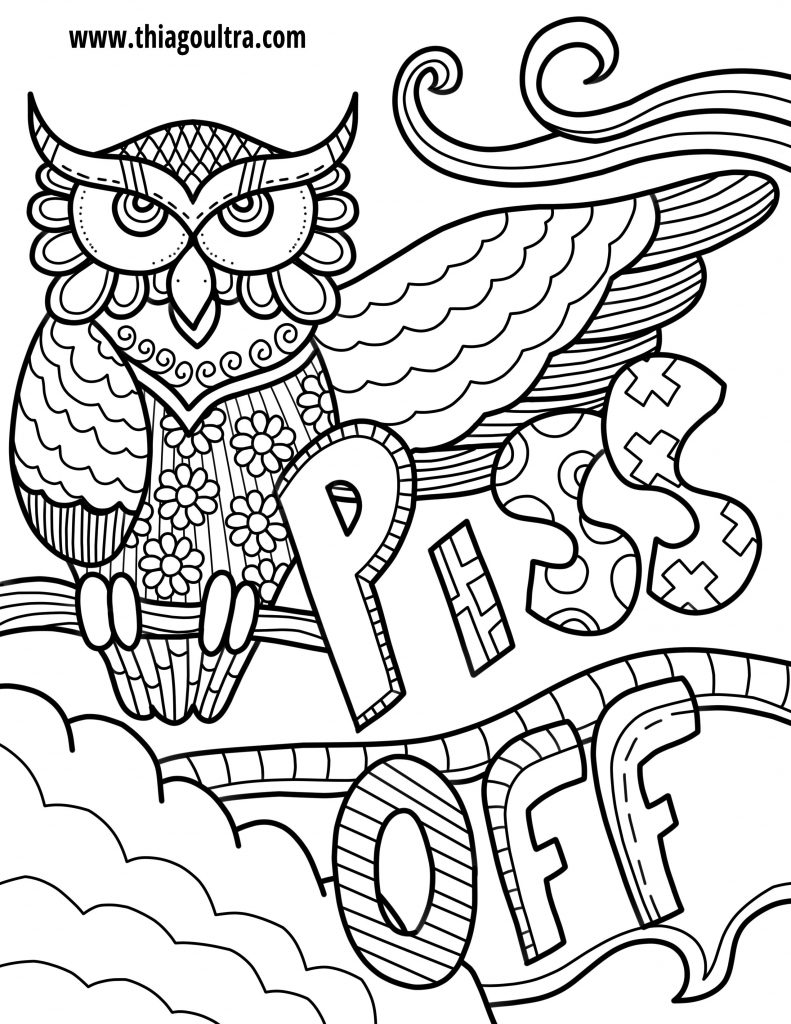 Challenge Free Printable Coloring Pages For Adults Only Swear