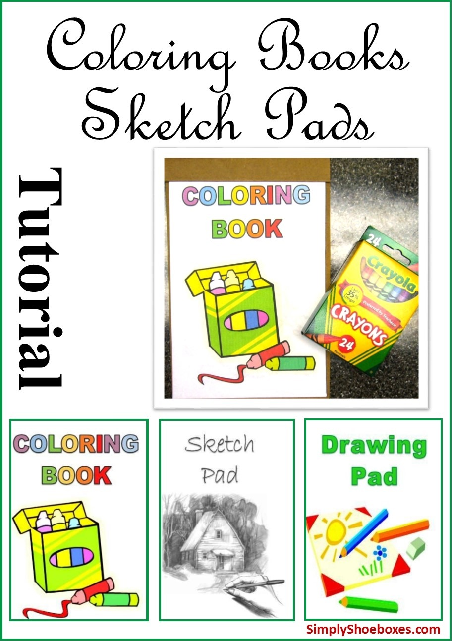 Simply Shoeboxes  Diy Easy Coloring Books, Drawing Pads & Sketch