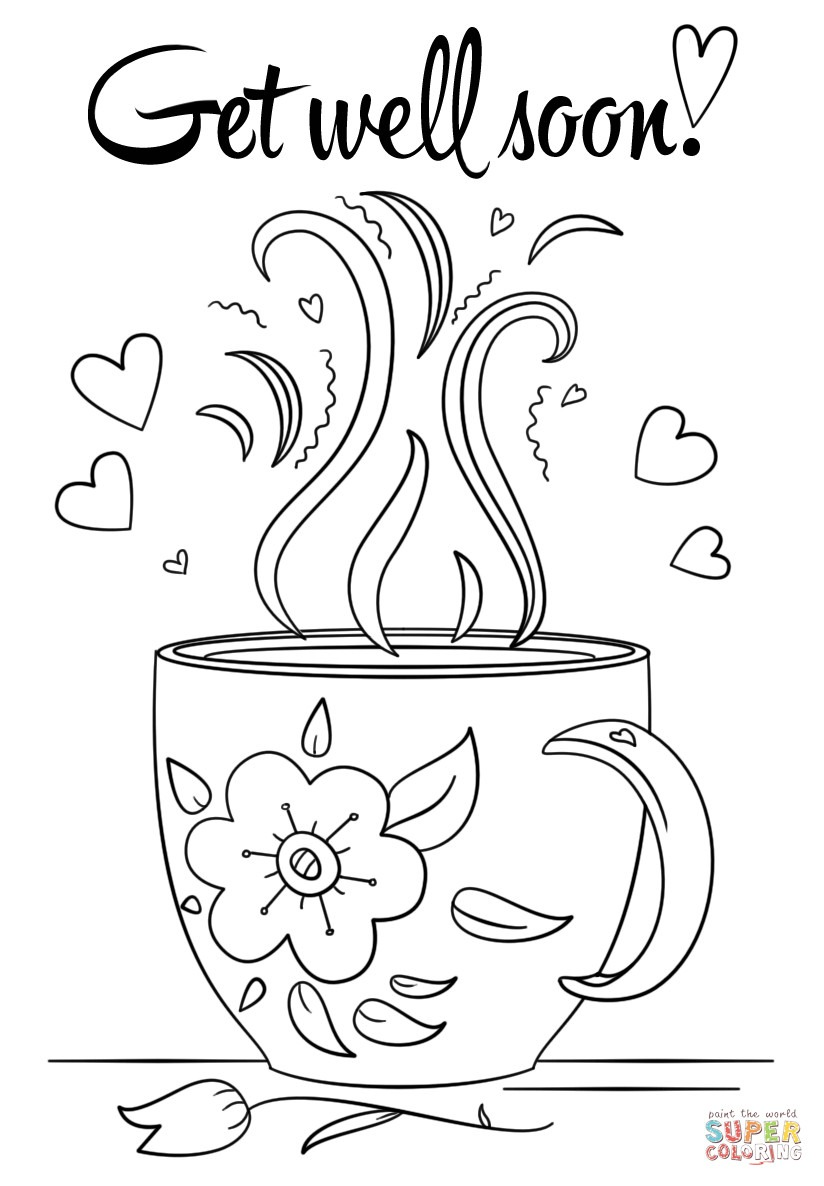 Coloring Pages ~ Coloring Pages Get Well Soon Sheet With Doodle