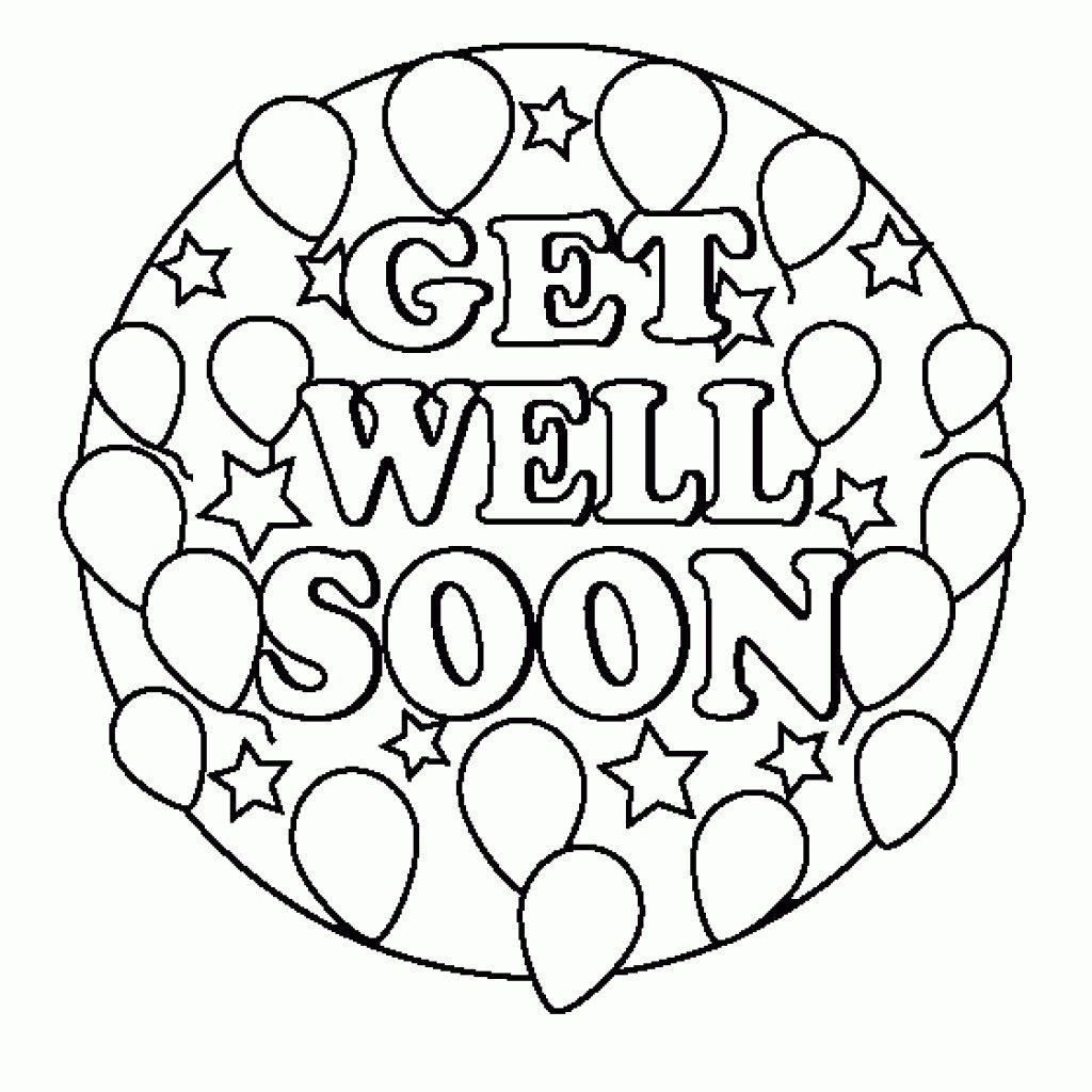 Coloring Pages ~ Get Well Soon Printable Coloring Pages