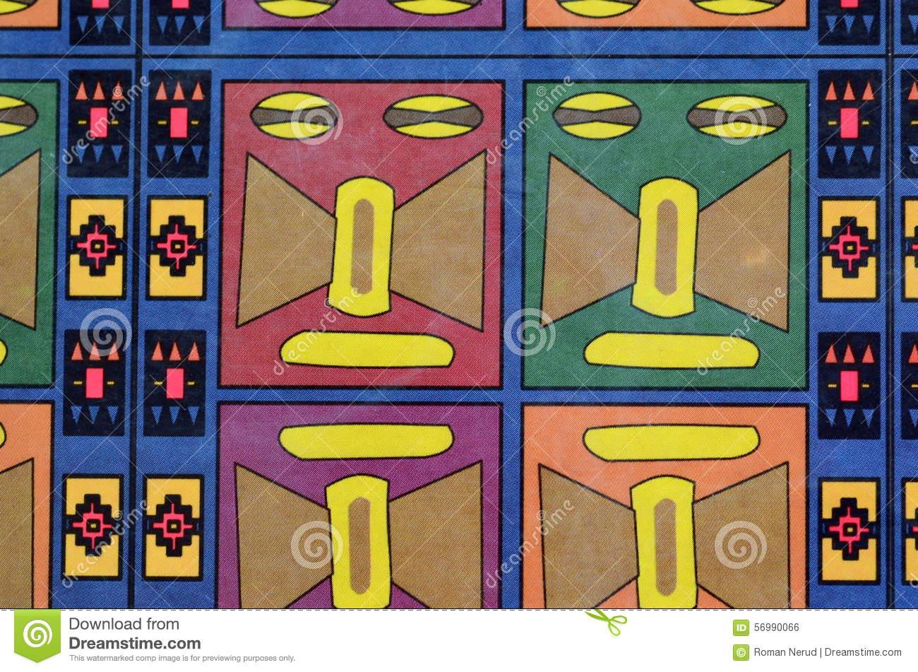 Colourful Seamless Mayan Pattern Stock Photo